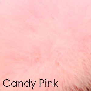 Pink marabou romance slipper