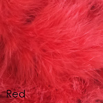 Red marabou romance slipper
