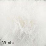 White marabou romace slipper